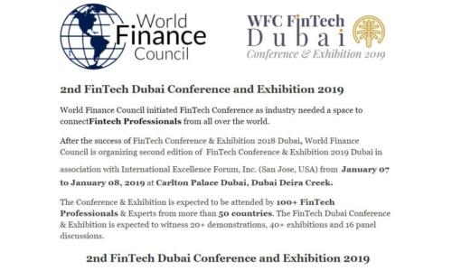 WFC FinTech Dubai 2019