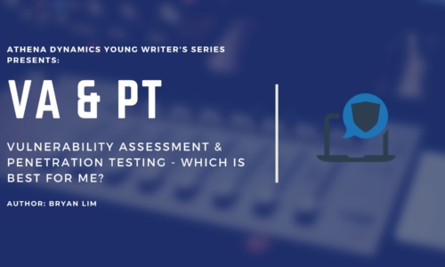 Athena Dynamics Young Writers Series Article #5: Vulnerability Assessment & Penetration Testing – Which is best for me?